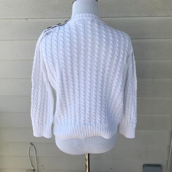 9bf36ed0475a99 Burberry Women's Cotton Crew Cable Knit Sweater. Burberry.  M_5aa831e984b5ced02cc85e40. M_5aa831e836b9decf468ffe8e.  M_5aa831e9daa8f6e3718cc6f0